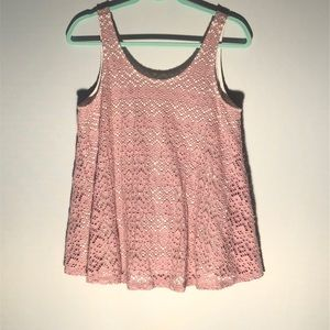 Anthropologie Lavender Swing Top by Deletta A24